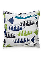 Fish Pond Decorative Pillow 18-in. x 18-in.