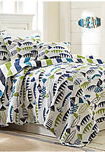 Fish Pond Reversible King Quilt 106-in. x 92-in.