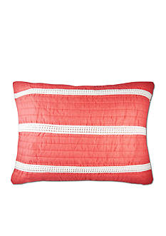 Elise & James Home™ Mini Poms Coral Standard Sham