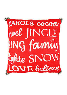 Elise & James Home™ Christmas Words Decorative Pillow