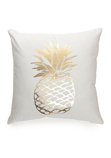 Elise & James Home™ Metallic Pineapple Decorative Pillow