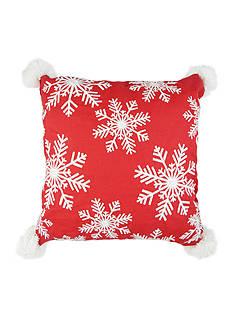 Elise & James Home™ Falling Snowflakes Decorative Pillow
