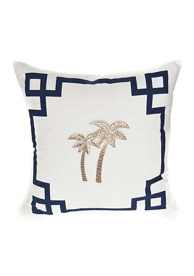 Elise & James Home™ Palm Tree Geo Border Decorative Pillow