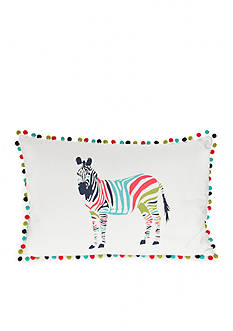 Elise & James Home™ Bright Zebra Crewel Decorative Pillow