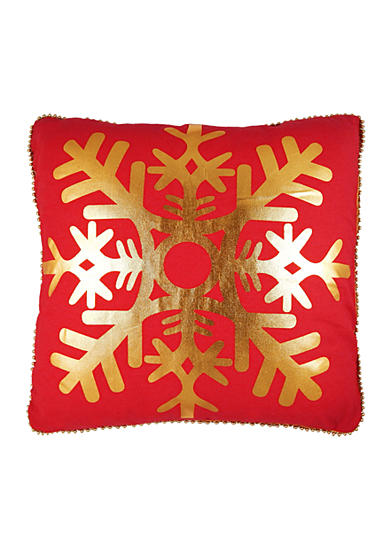 Elise & James Home™ Metallic Snowflake Decorative Pillow