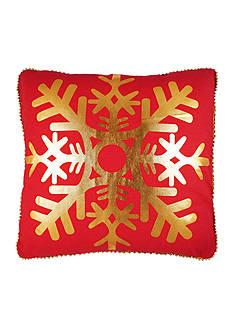 Elise & James Home™ Metallic Snowflake Decorative Pillow