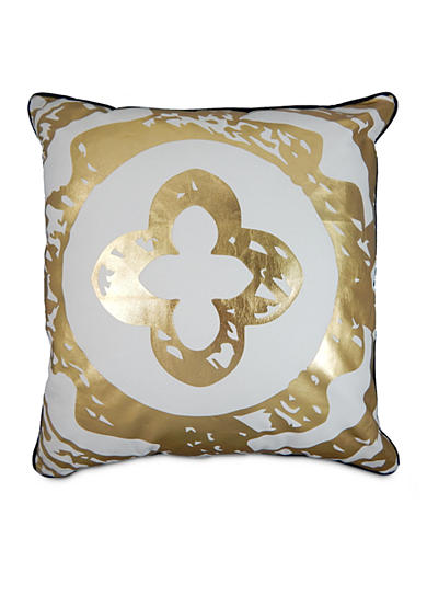 Elise & James Home™ Dana Metallic Square Decorative Pillow
