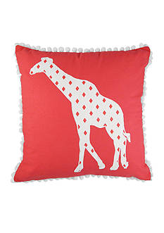 Elise & James Home™ Giraffe Applique Decorative Pillow