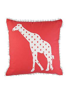 Elise & James Home™ Giraffe Applique Decorative Pillow