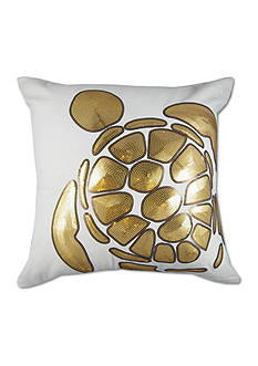 Elise & James Home™ Aegean Turtle Gold Decorative Pillow