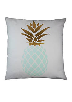 Elise & James Home™ Gold And Blue Pineapple Decorative Pillow