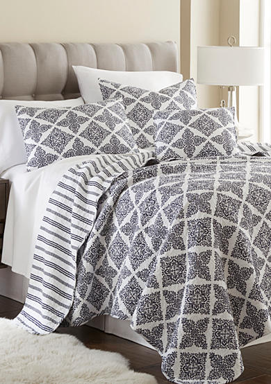 Elise & James Home™ Preston Navy Reversible Quilt Collection