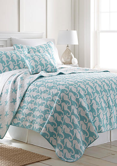 Elise & James Home™ Seahorse Reversible Quilt Collection