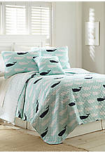Cape Whale Full/Queen Quilt 88-in. x 92-in.