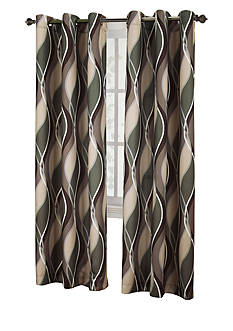 No. 918 Intersect Grommet Woven Print Window Panel