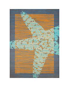 Panama Jack Star Fish Border Rug