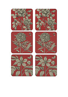 pimpernel Etchings and Red Roses Coasters - Set of 6