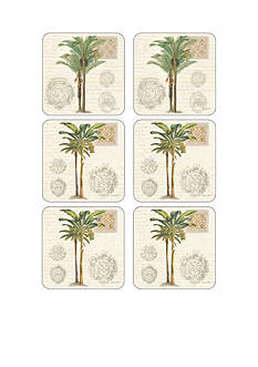 pimpernel Vintage Palm Study Coasters - Set of 6