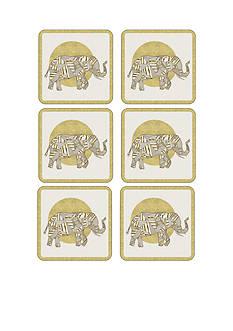 pimpernel Geometric Golden Elephant Coasters - Set of 6
