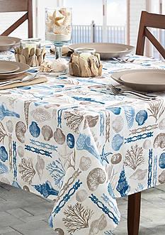 Benson Mills Ocean Treasure Indoor/Outdoor Tablecloth 70-in. Round