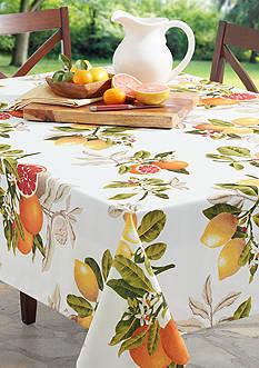 Benson Mills Citrus Grove Indoor/Outdoor Spillproof Tablecloth 60-in. x 104-in.