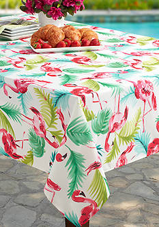 Benson Mills Flamingo Indoor/Outdoor Spillproof Tablecloth 60-in. x 120-in.