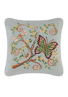 C&F Floria Butterfly Garden Pillow