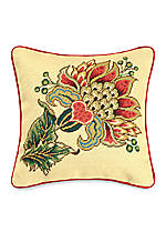 Vivienne Multi Needlepoint Decorative Pillow 16-in. x 16-in.
