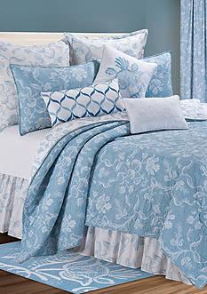 C&F Eliza Lace Blue King Quilt