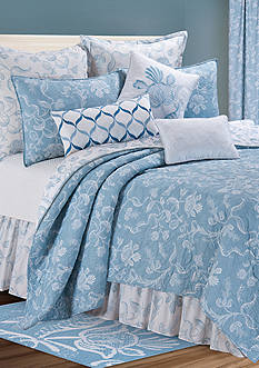 C&F Eliza Lace Blue Full/Queen Quilt