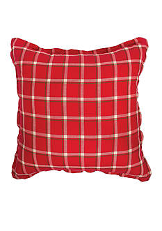 C&F Winter Berries Plaid Woven Euro Sham