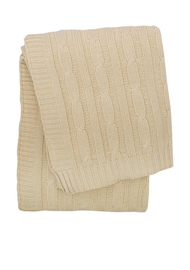 C&F Cable Knit Throw