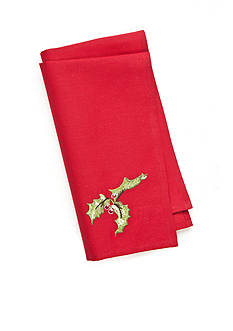 C&F HOLLY RED NAPKIN