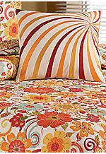 Isabo Multicolored Embroidered Swirls Decorative Pillow 16-in. x 16-in.