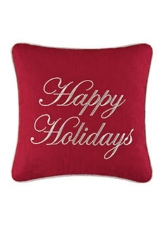 C&F Happy Holidays Throw Pillow
