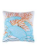 C&F Tropic Escape Blue Crab Pillow