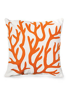 C&F Coral Orange Decorative Pillow