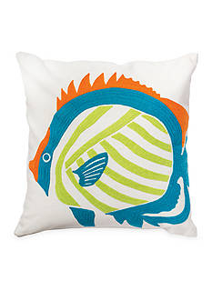C&F Fish Lime Decorative Pillow