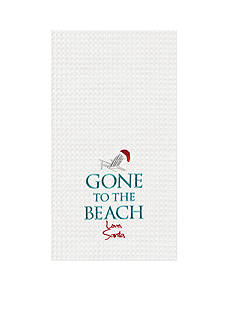 C&F Gone to the Beach, Love Santa Kitchen Towel