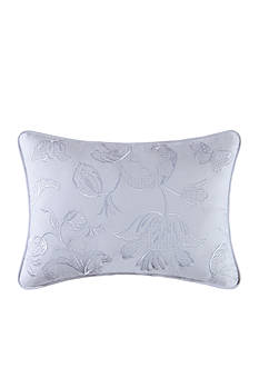 C&F Eliza Lace Blue Throw Pillow
