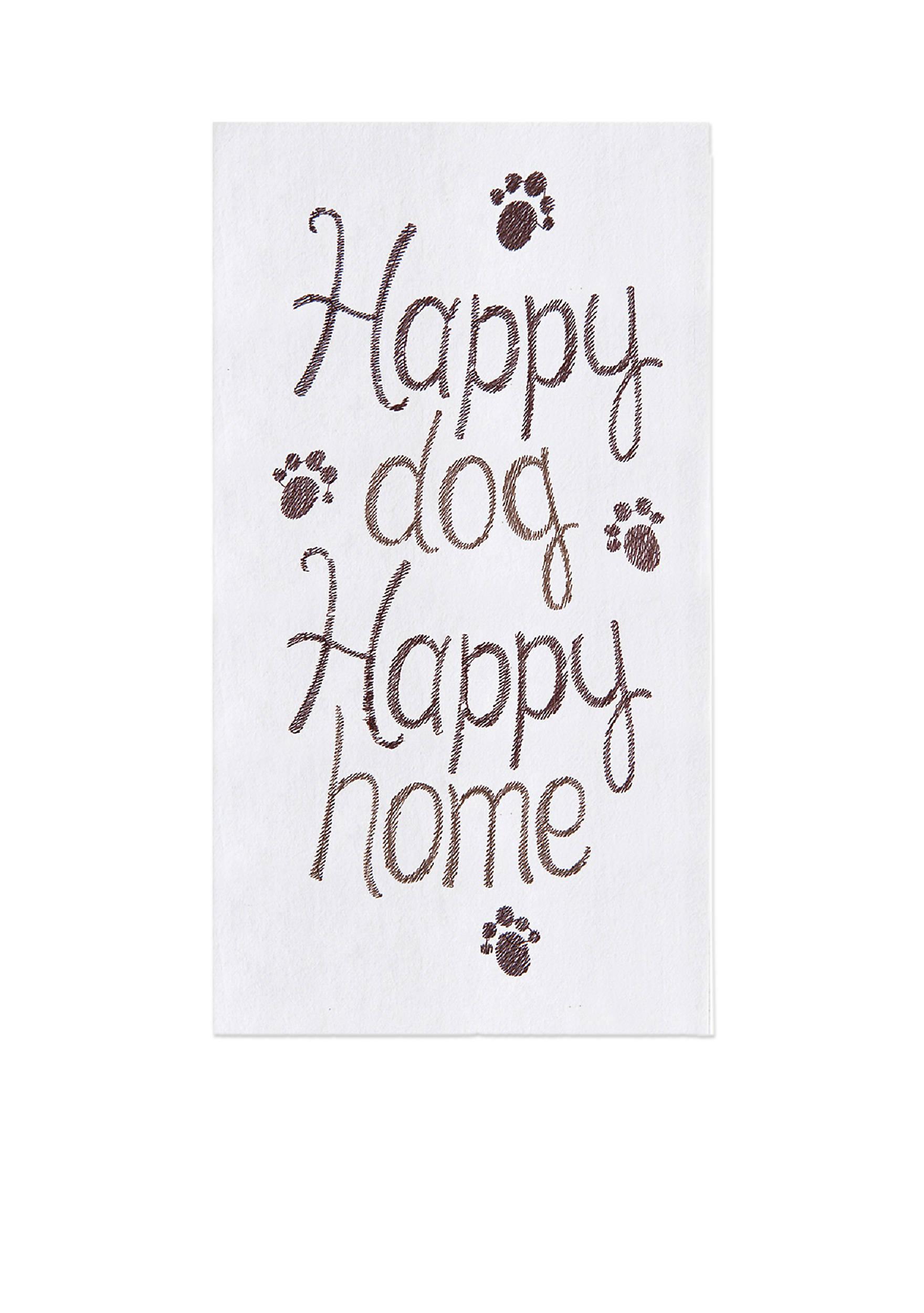 C&F Happy Dog Happy Home Kitchen Towel | belk