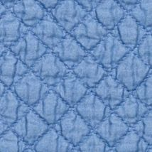 Table Linens and Placemats: Blue C&F SAGE PM QLT SCALLOP