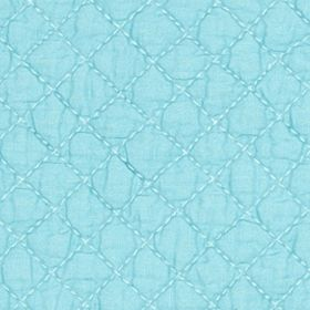 Table Linens and Placemats: Aqua C&F SAGE PM QLT SCALLOP