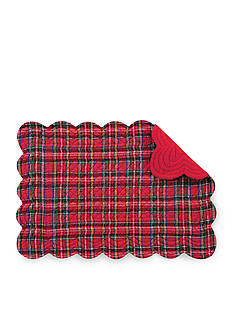 C&F Plaid Reversible Quilted Placemat