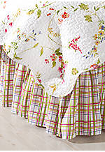 Priscilla Plaid Full Bedskirt 54-in. x 76-in. + 14-in. drop