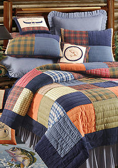 C&F Northern Plaid Full/Queen Quilt