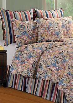 C&F Paisley Blue King Quilt 108-in. x 92-in.