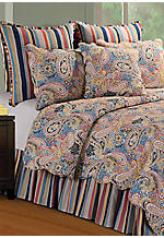 Bright Blue Paisley King Quilt 108-in. x 92-in.