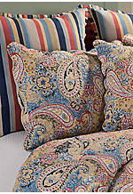 Bright Blue Paisley Standard Sham 20-in. x 26-in.
