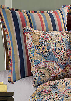 C&F Paisley Blue Euro Sham 26-in. x 26-in.